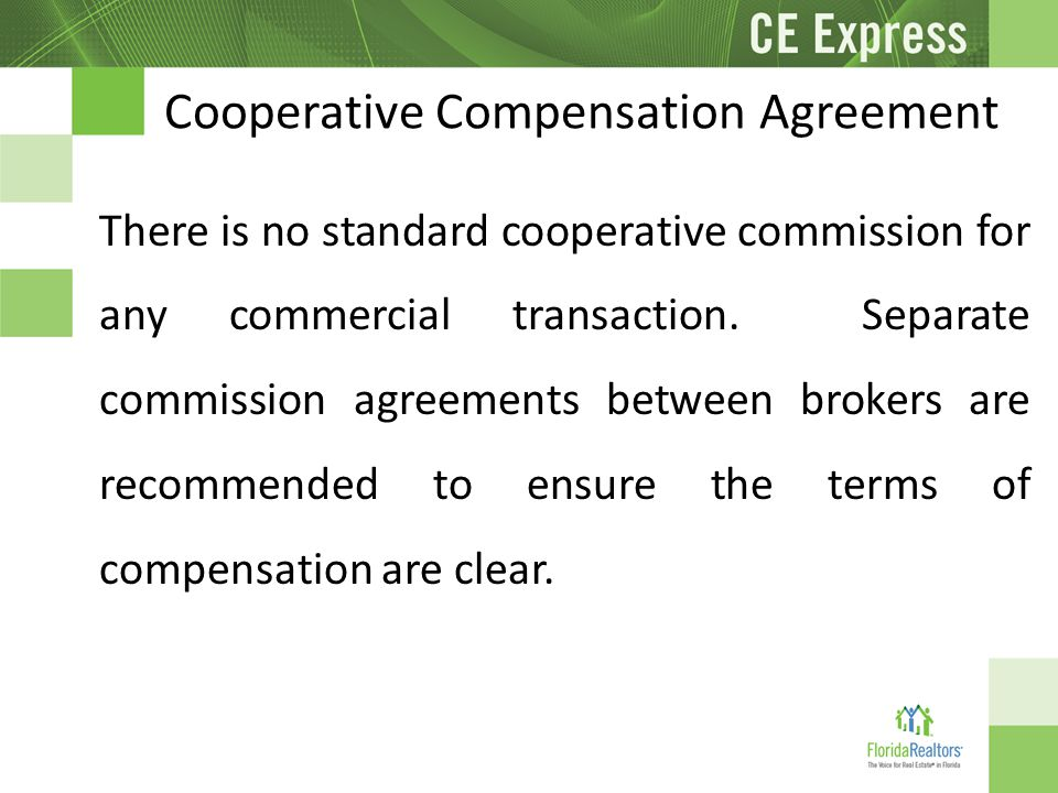 an agreement to compensate for a
