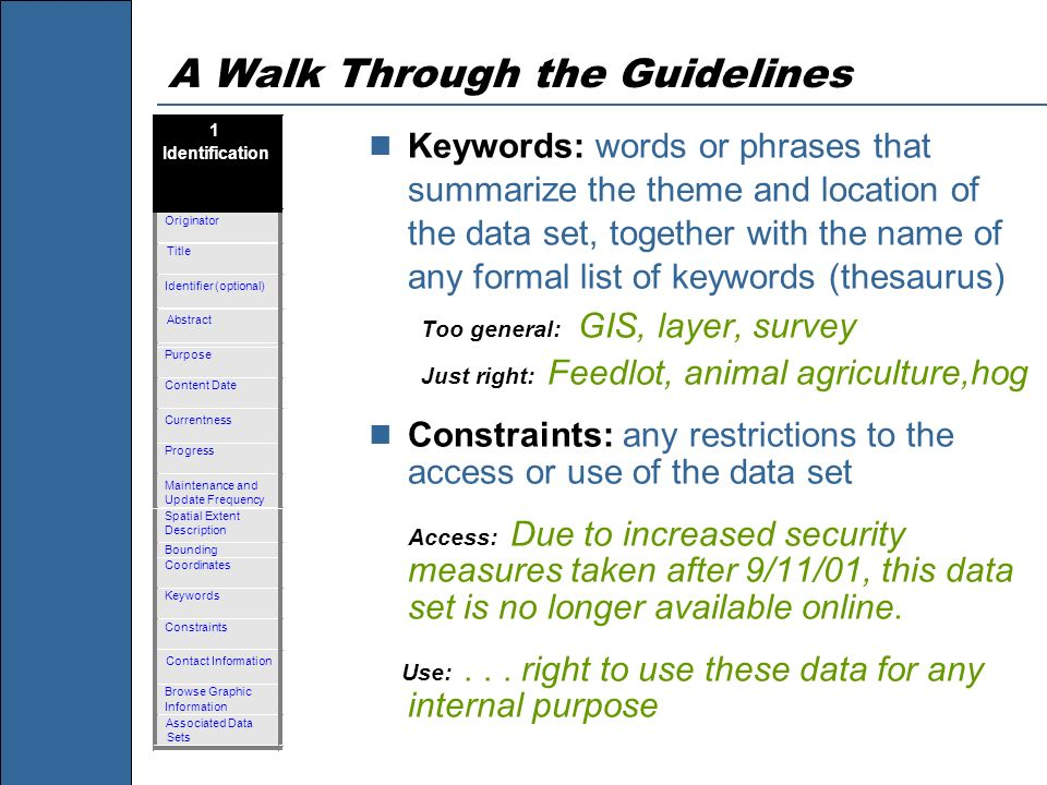 A Walk Through the Guidelines