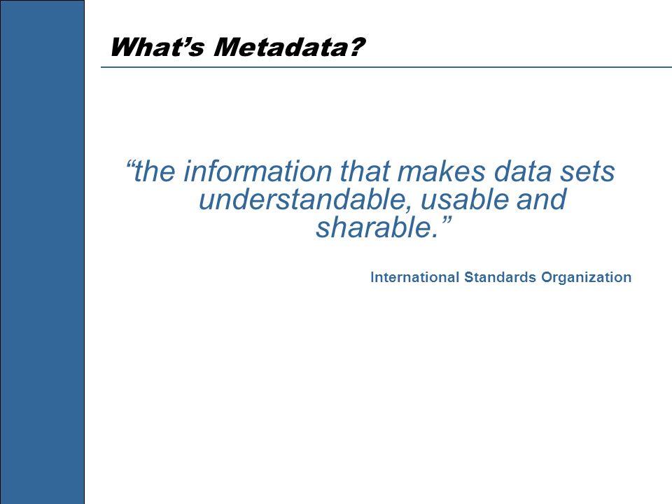 What's Metadata.