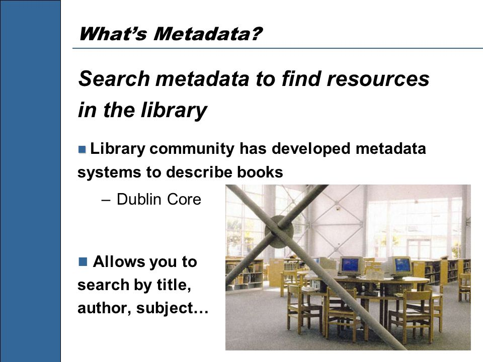 LMIC Metadata Workshop, 2001