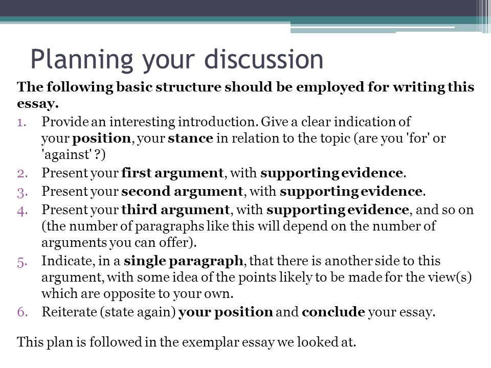 writing our own discussion ppt video online  planning your discussion