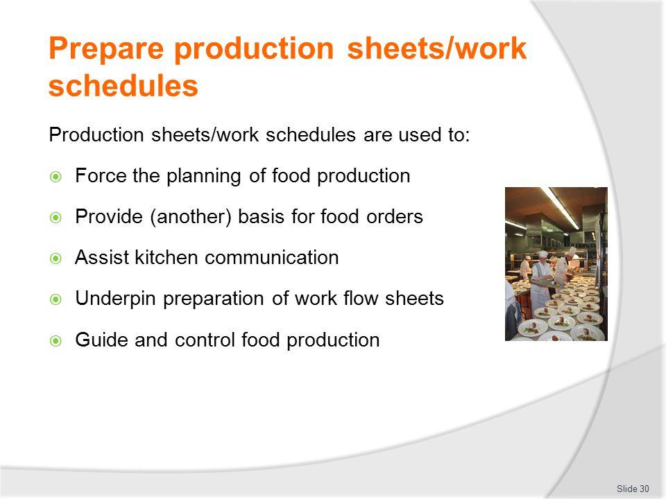 work schedule sheets