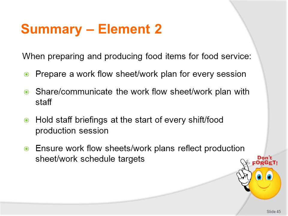 ORGANISE FOOD SERVICE OPERATIONS - ppt download