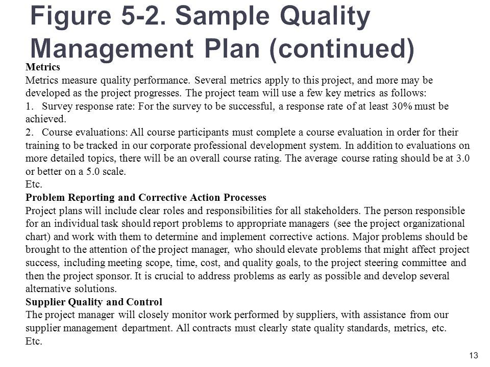 Chapter 5 Planning Projects Part Ii Quality Human Resource Communications Risk And