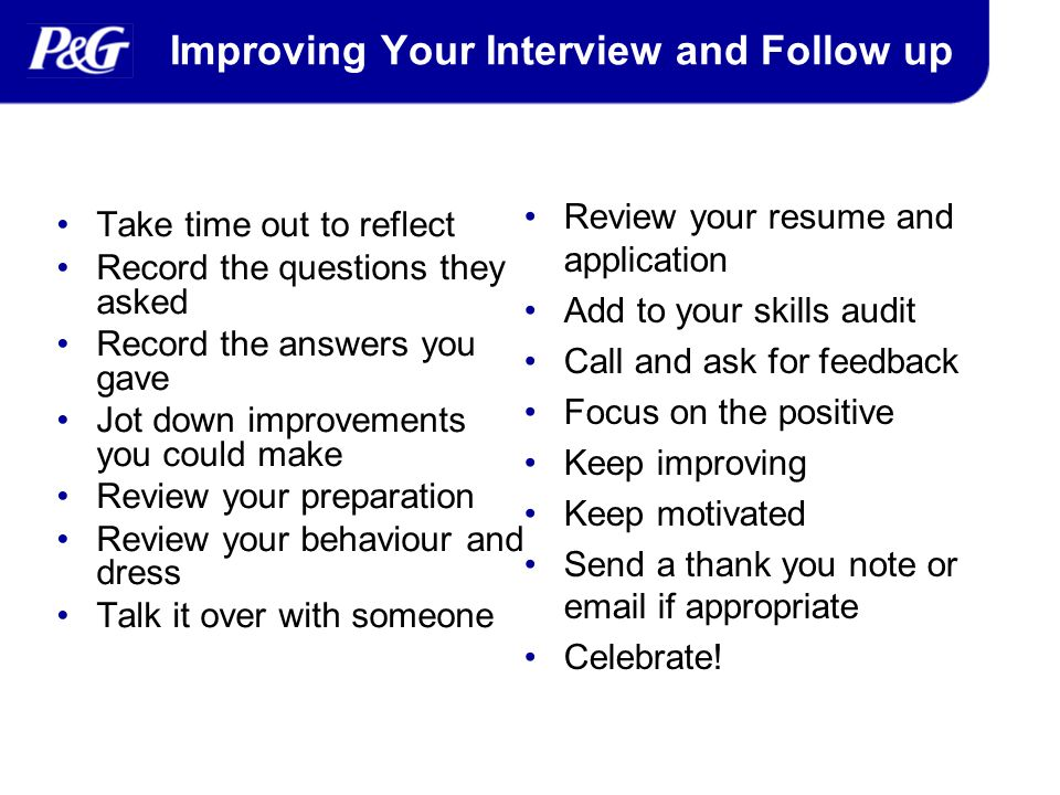 successful interviews ppt video online download