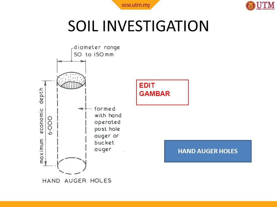 Site works site investigation and soil investigation ppt for Soil investigation