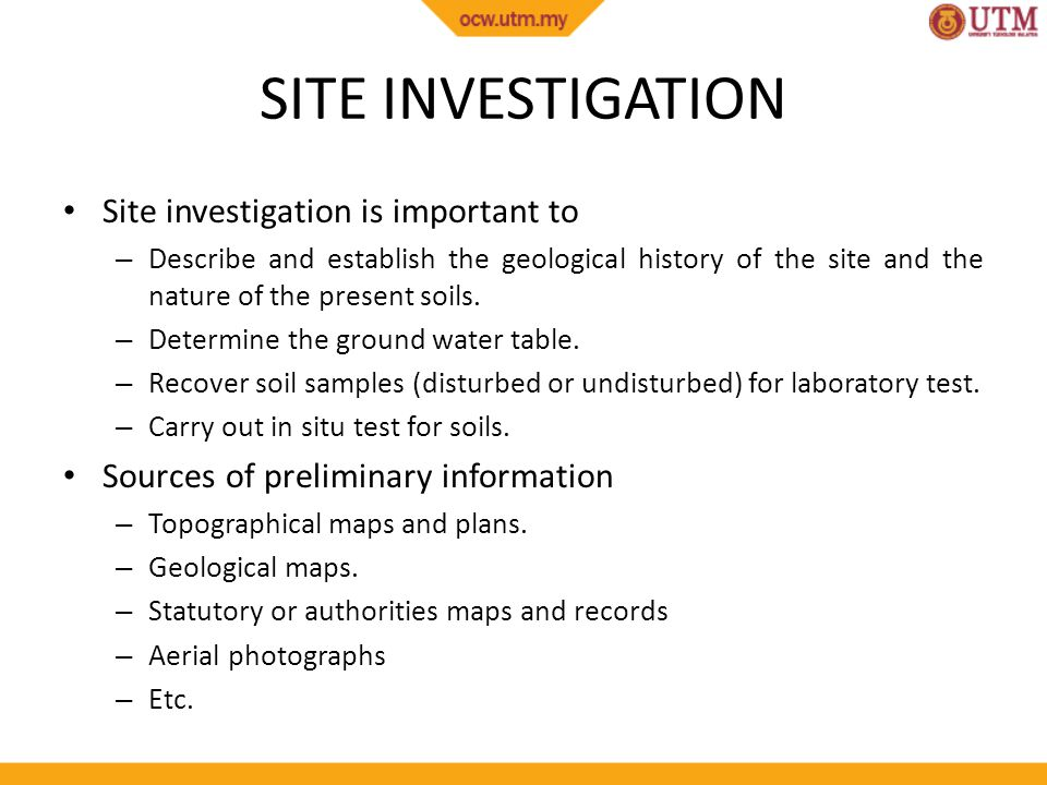 the importance of site investigation Environmental consultant, soil environment services, explains the vital  importance of conducting a ground investigation prior to any.
