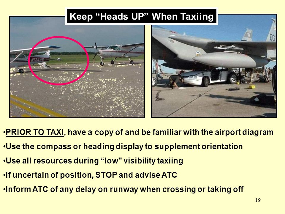 Keep Heads UP When Taxiing
