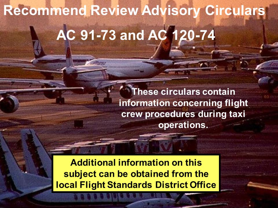 Recommend Review Advisory Circulars