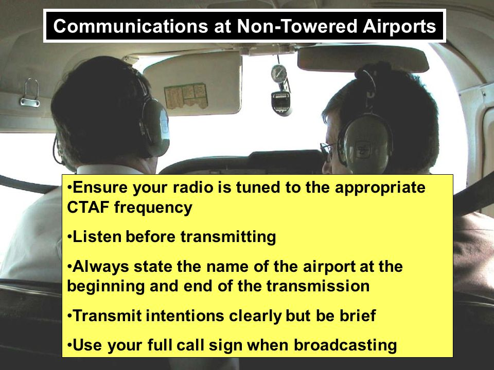 Communications at Non-Towered Airports