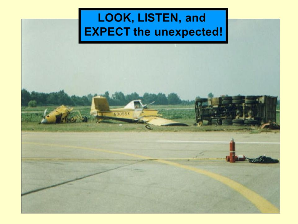 LOOK, LISTEN, and EXPECT the unexpected!