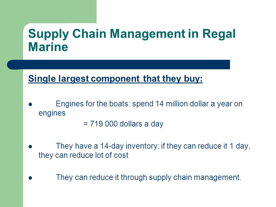 regal marine essay Free essay: the ability to quickly translate customer needs, preferences into new  products while adding in a significant amount of innovation.