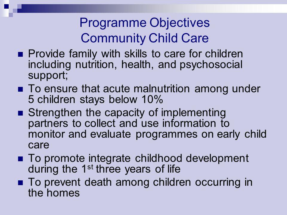 Programme Objectives Community Child Care