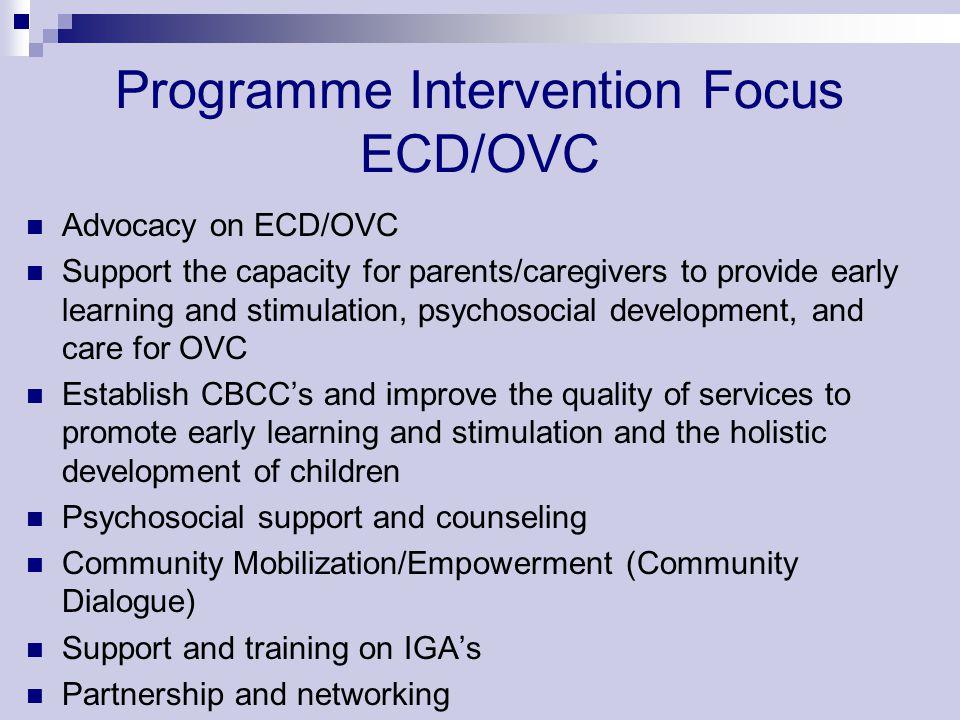 Programme Intervention Focus ECD/OVC