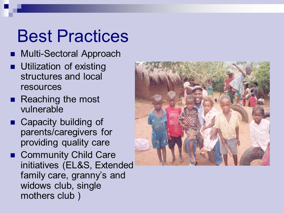 Best Practices Multi-Sectoral Approach