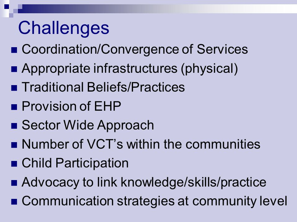 Challenges Coordination/Convergence of Services