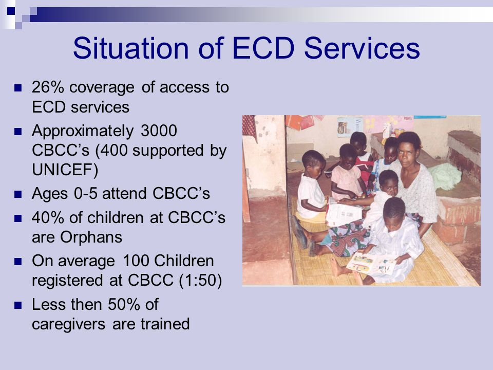 Situation of ECD Services