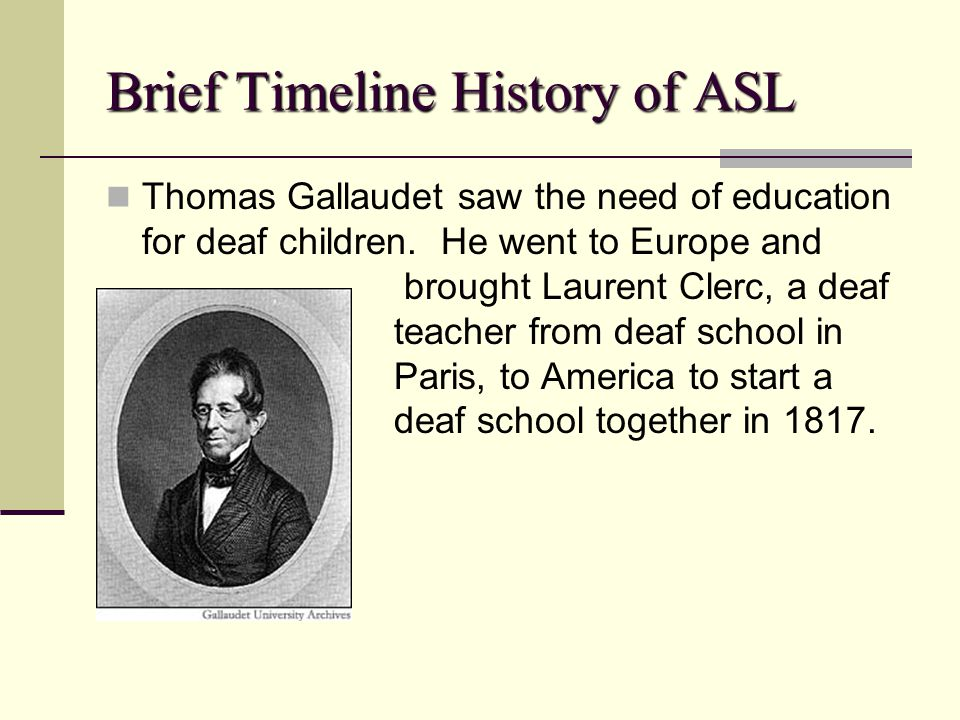 a history of education for the deaf in the world Home alexander graham bell the international deafness controversy of 1880 over the world to both hearing and deaf individuals history of deaf education.
