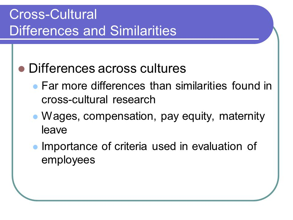 cross cultural differences and similarities in Ty - jour t1 - cross-cultural similarities and differences in attitudes about advance care planning au - perkins,henry s au - geppert,cynthia m a.