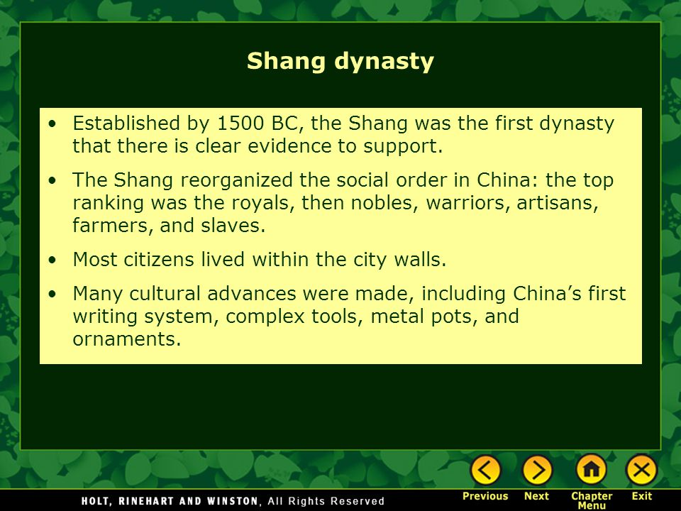 shang dynasty essay As we know it today, china has been one of the most powerful countries in the world early china is much different from what we know to be the.