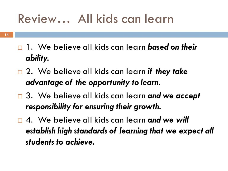 My 5 Core Beliefs about Learning - Bridging The Gap