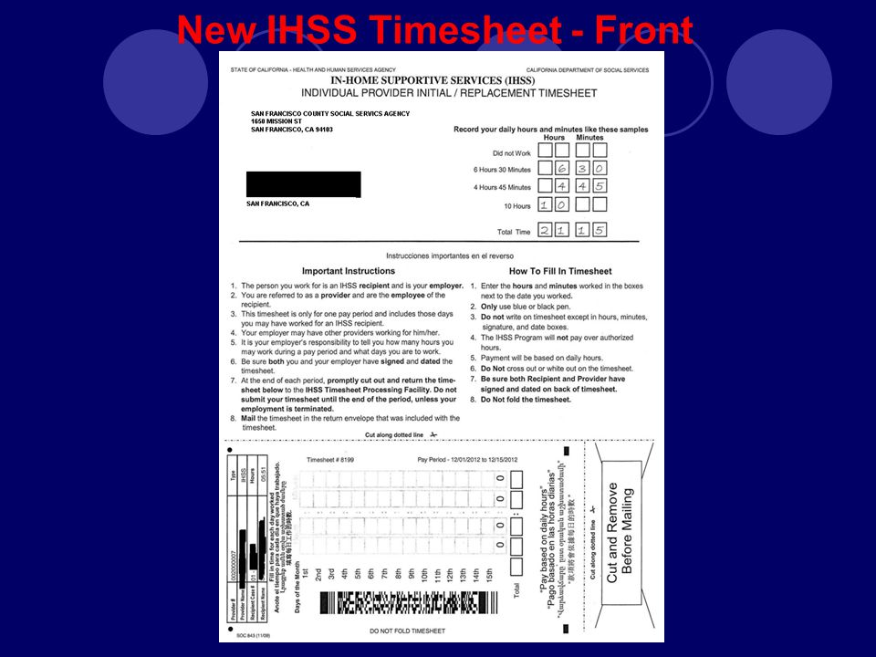 New Timesheets & Payroll Processing for IHSS Providers - ppt video ...