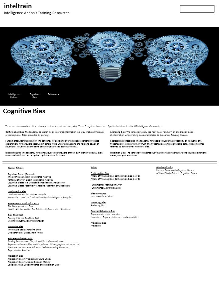 Cognitive bias mitigation
