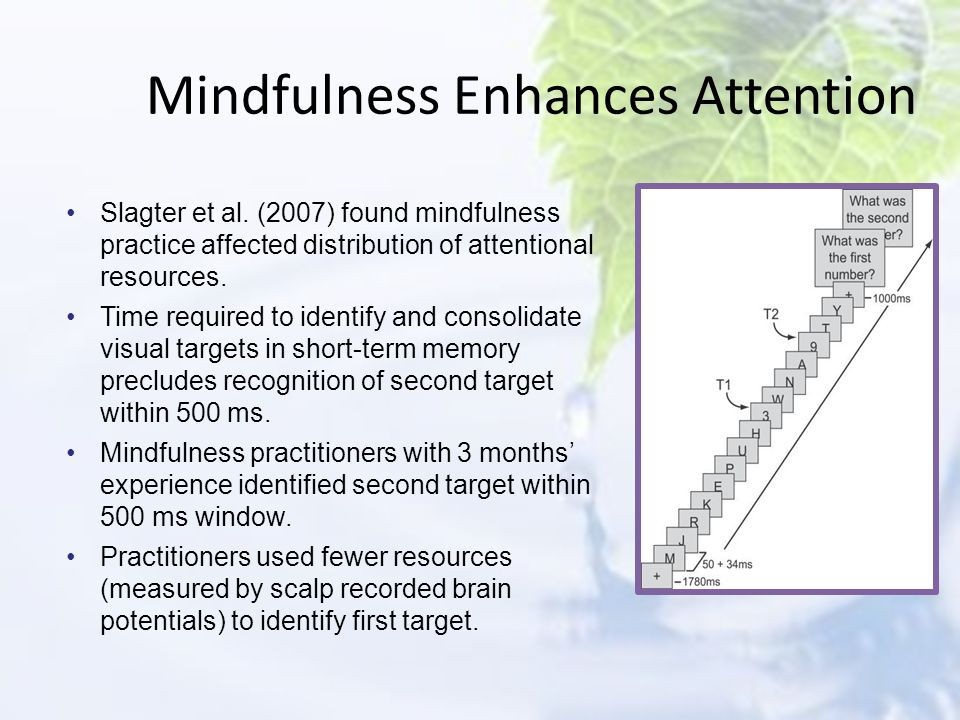 Mindfulness Enhances Attention