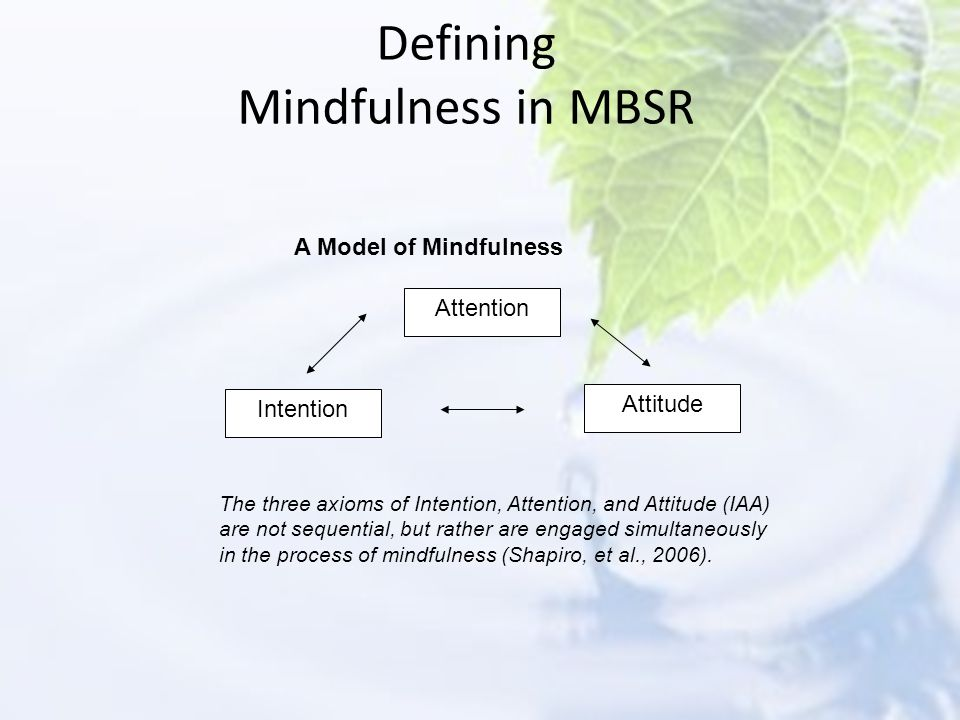 Defining Mindfulness in MBSR