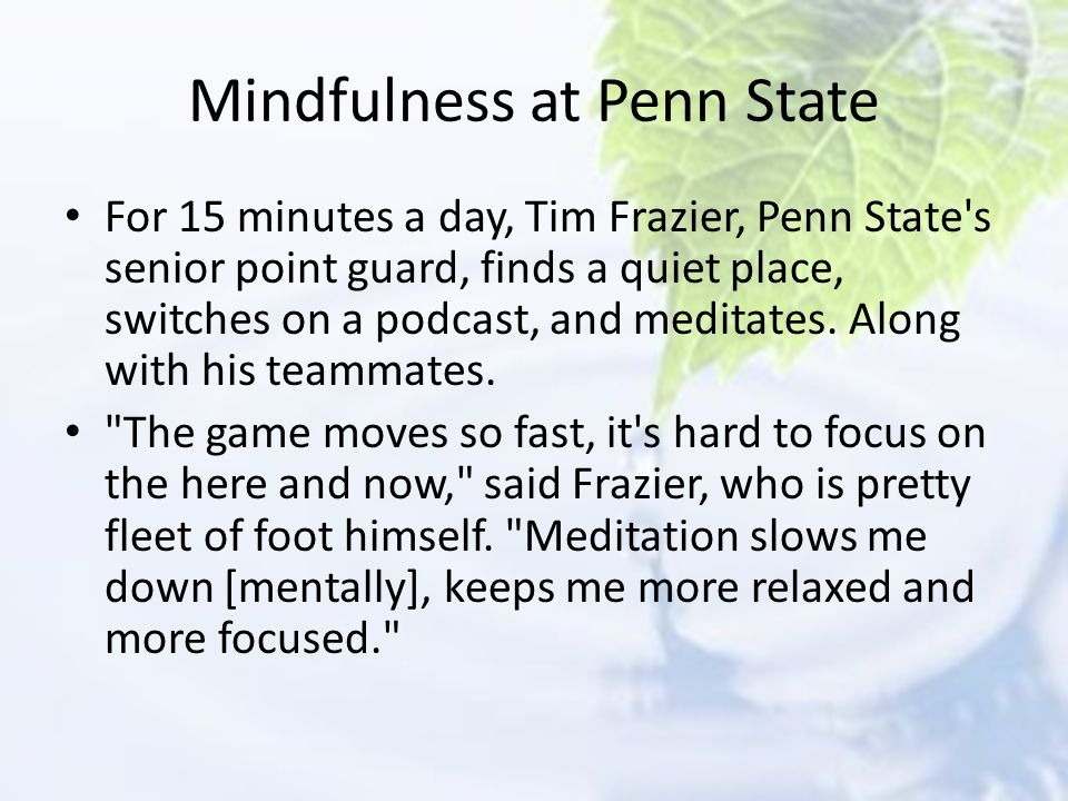 Mindfulness at Penn State