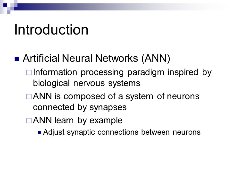 Live To Learn: Artificial Neural Network