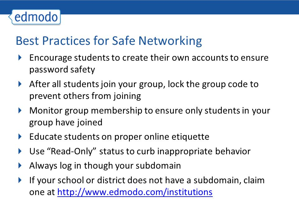 Best Practices for Safe Networking