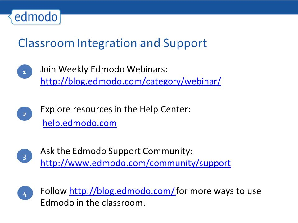 Classroom Integration and Support