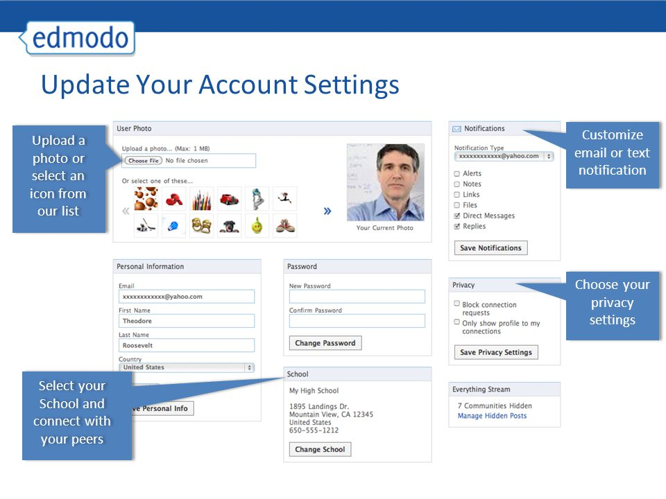 Update Your Account Settings