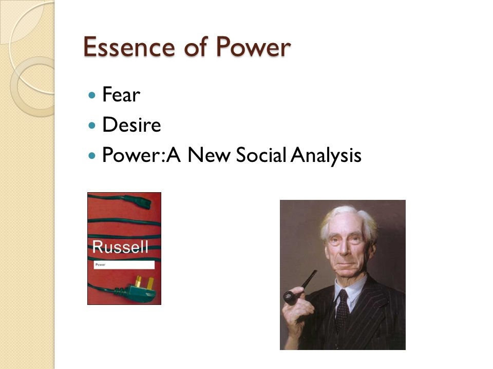 Essence of Power Fear Desire Power: A New Social Analysis