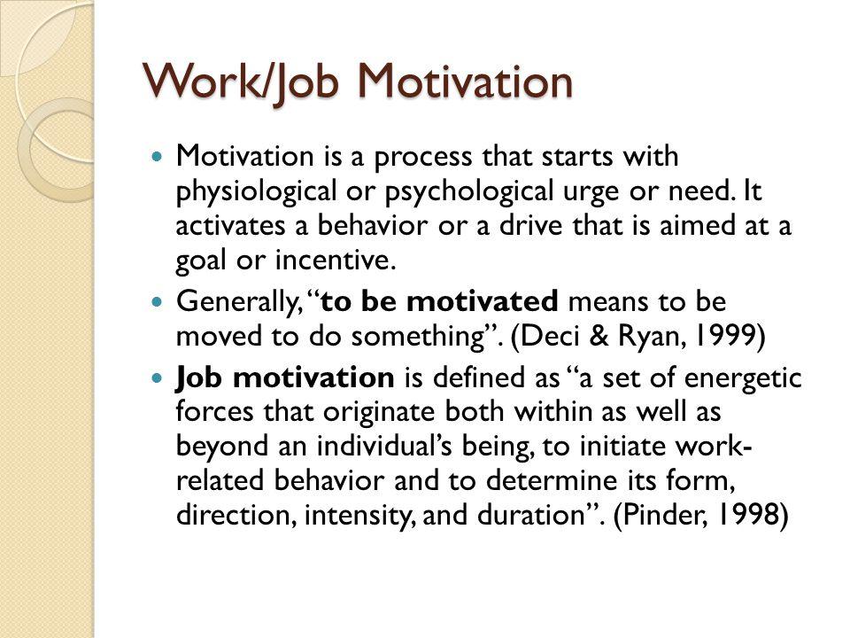 Work/Job Motivation