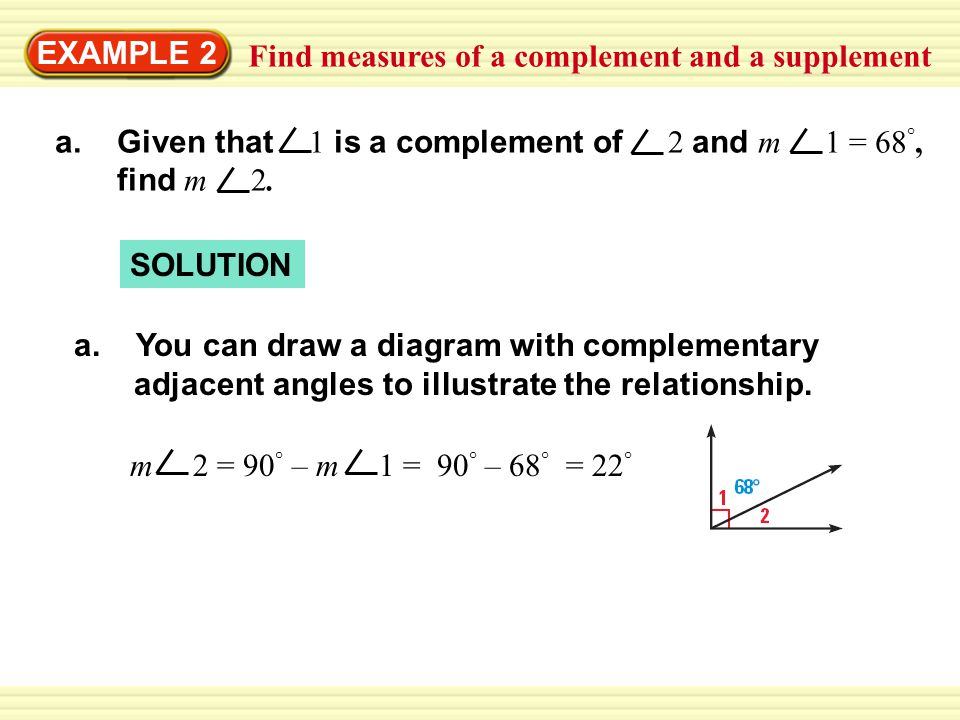 how to find the supplement and complement of an angle