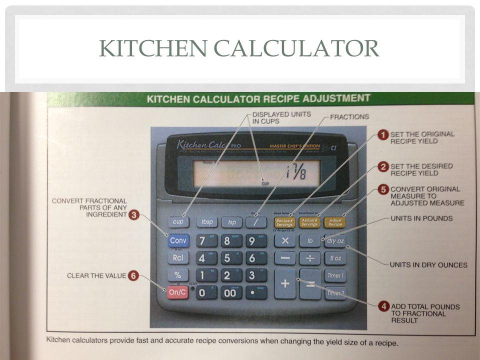 22 Kitchen Calculator