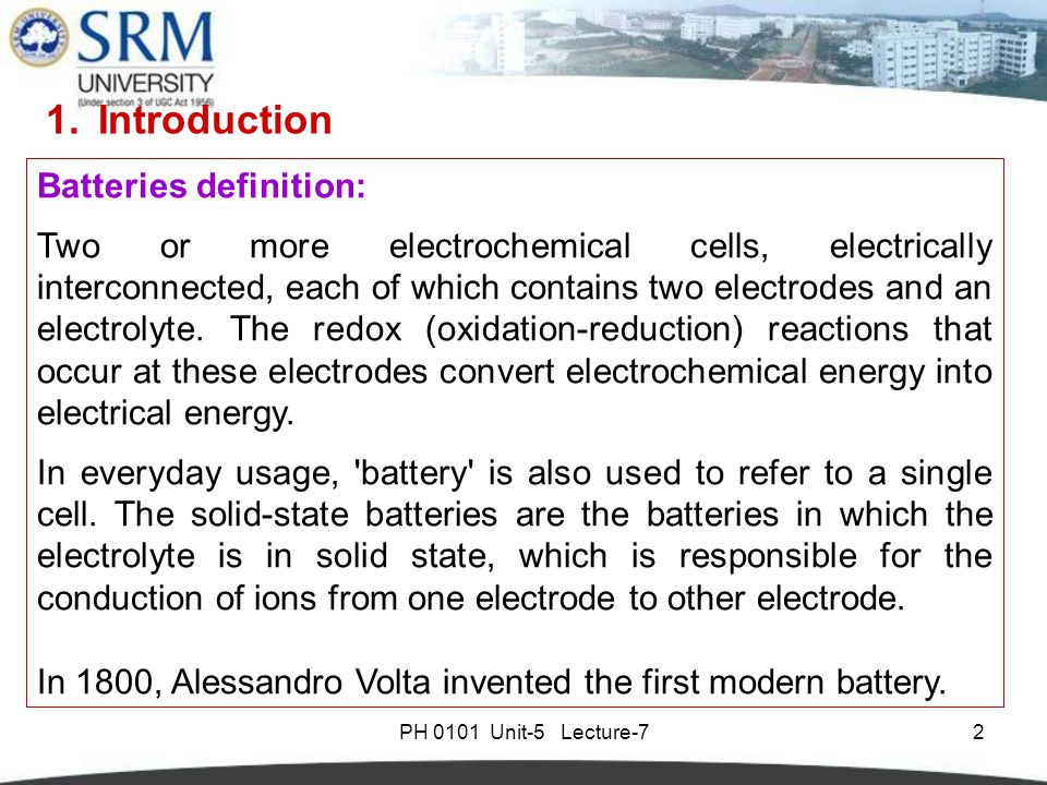 Introduction of Battery Types
