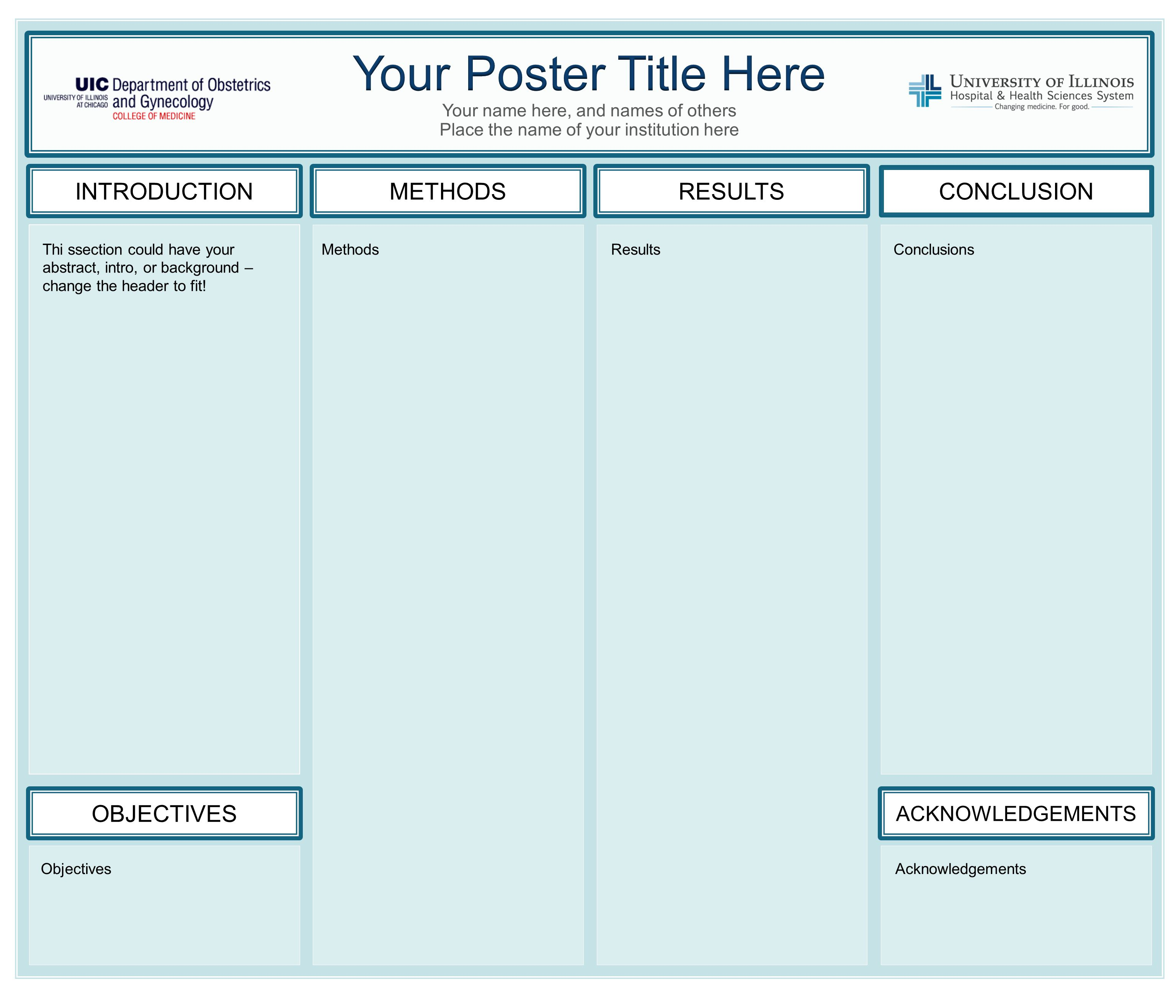 36x48 research poster template for nursing