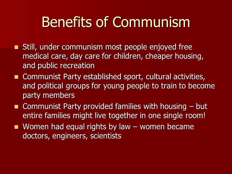 Dating guide for communist party members