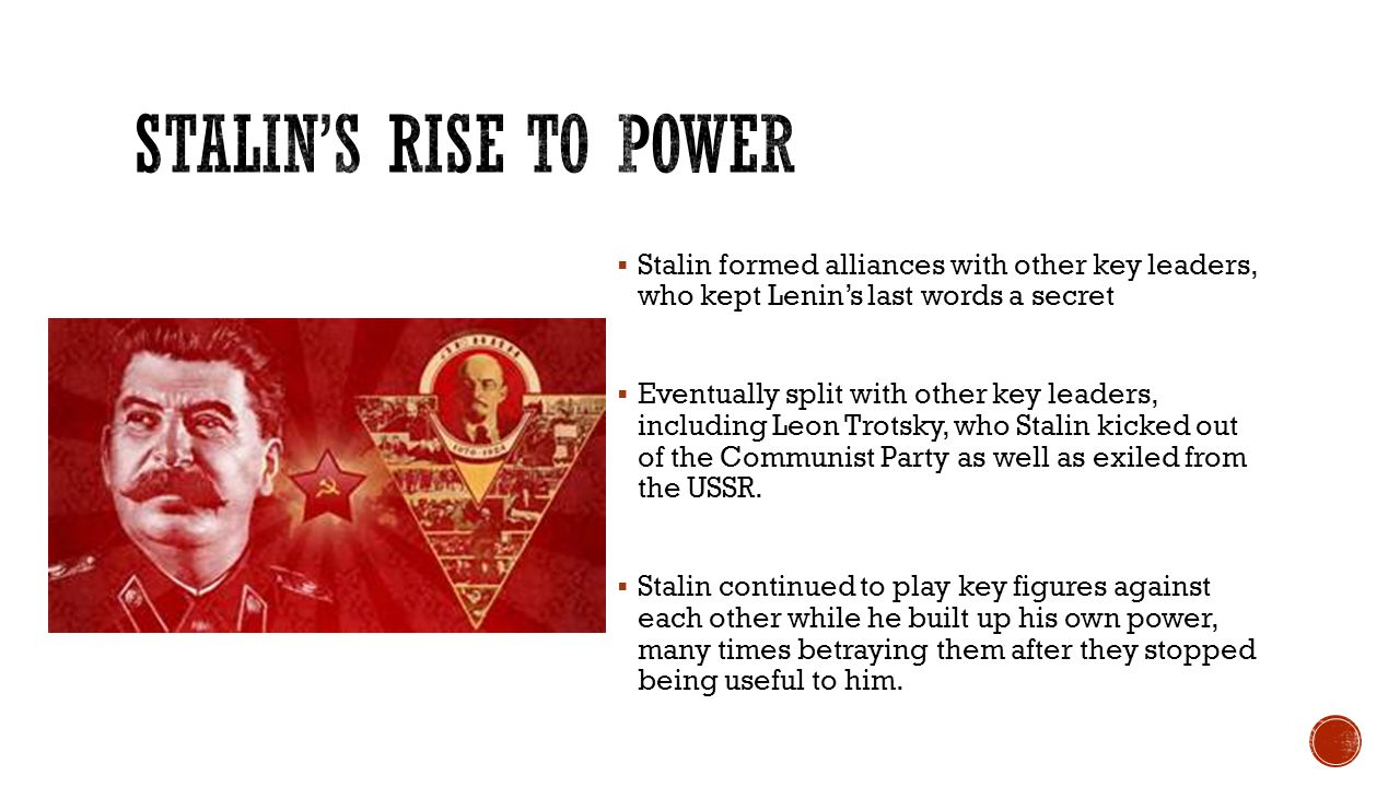 How did stalin rise to power