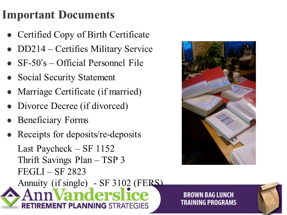 Maximizing Your Federal FERS Benefits - ppt download