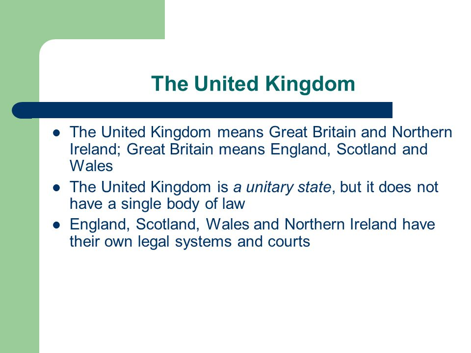 legal relationship between wales and britain