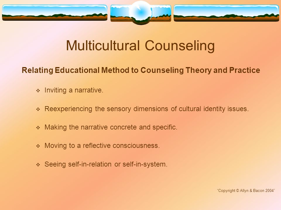 multicultural counseling and cultural identity analysis Case studies in multicultural counseling and therapy is a one-of-a-kind resource  an analysis of each case  negotiating cultural change and identity:.