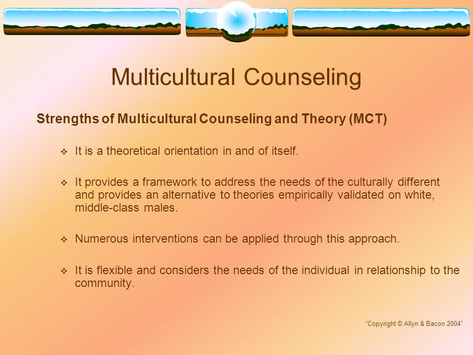 theoretical orientation to counseling Theoretical orientation involves a customized approach to how a counselor best serves their client every client is different and reacts to different treatments, and theoretical orientation is there to help the counselor find the best method to tackle their client's problems.