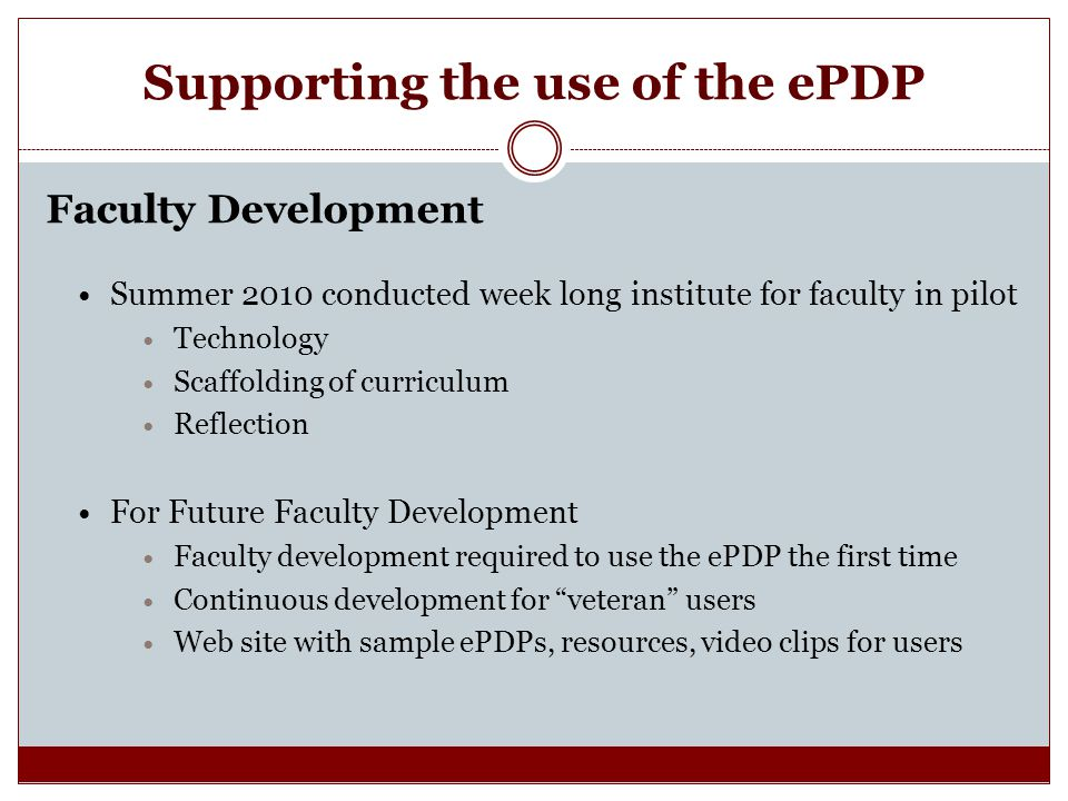 Supporting the use of the ePDP