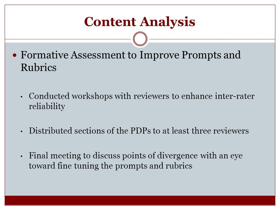 Content Analysis Formative Assessment to Improve Prompts and Rubrics