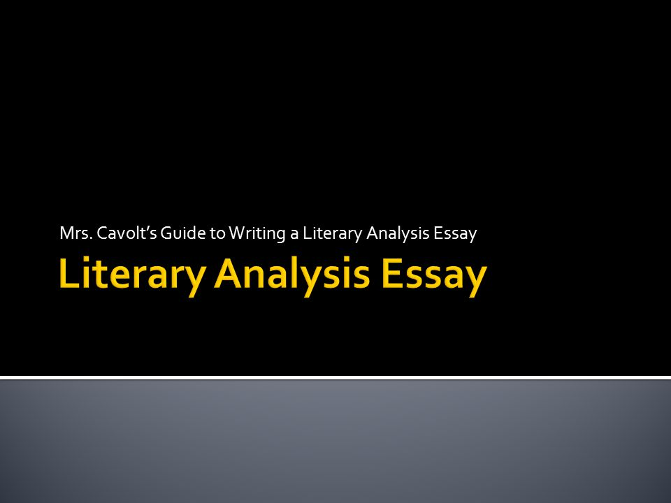 literary analysis essay on characterization When you decide to write a character analysis (or have that choice made for you), you will need to do some  elements of a literary essay listed above larry b .