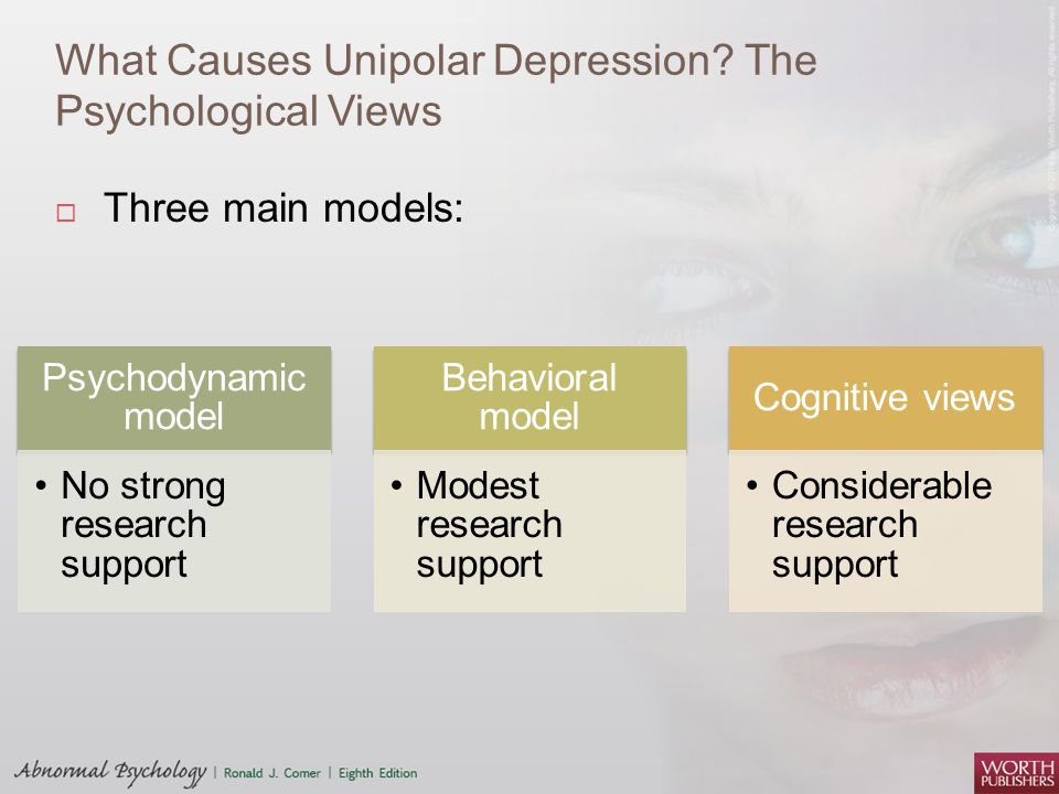 the issues of the depression in the psychological research Types of psychological disorders  the most common mood disorders are depression,  and behaviors surrounding weight and food issues.